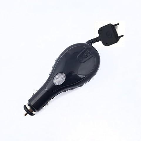 NFE Kfz Ladekabel 12V - 24V mit Aufrollmechanismus in glanzschwarz für Sony Ericsson W995
