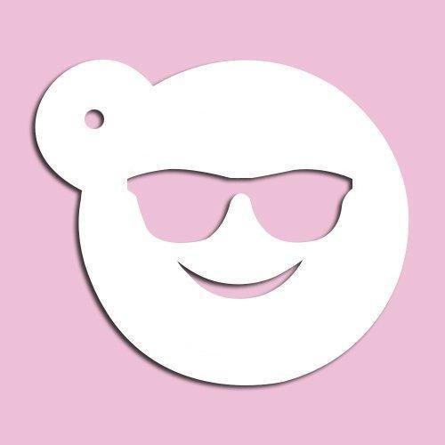 Sonnenbrille Emoji-Schablone 8,9cm