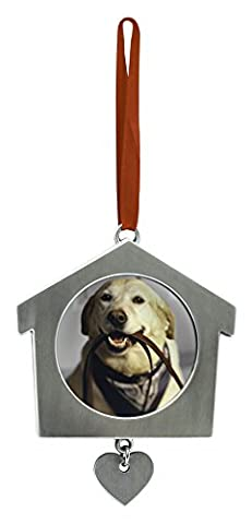 Pearhead Hund House Metall Ornament