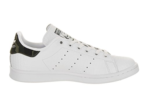 Adidas Womens Superstar Leather Trainers Footwear White Night Cargo