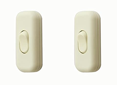 Torpedo Switch/[2 Pack] White SFTlite Inline Switch Use Inline 2 or 3 Core,Inline Lamp/Light/Bulb