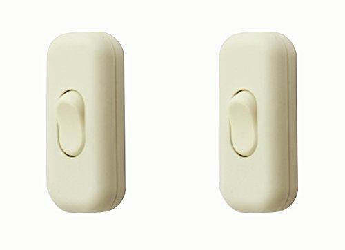 Zwischenschalter / [2 Pack] SFTlite Weißer Inline Schalter Verwenden Sie Inline 2 oder 3 Core Schnur zwischenschalter, Leuchtenschalter Light / Lampe Schalter (Inline-lampe Schalter)