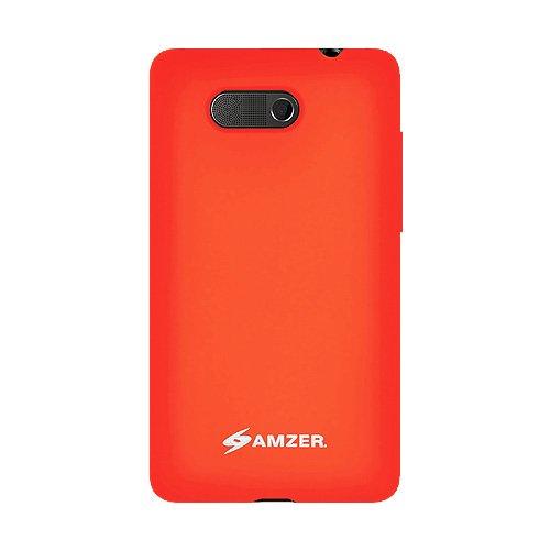 Amzer Jelly Case Coque silicone pour HTC HD Mini Orange (Import Royaume Uni)