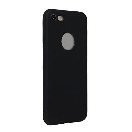 iPhone 7 Hülle Dünn Silikon, Asnlove 2 Pack Handy Schutzhülle für Apple iPhone 7 Hülle TPU Silikon Backcover Case Handytasche Einfarbig Telefon-Kasten Tasche Schutz Cover Design Rose Color-9