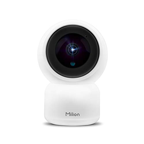 Milion H01 WiFi 1080p Surveillance IP Camera with Infrared Night Vision, Sound and Motion Detection, Rotation Angle, Two-Way Audio, Cloud Service, Remote Real-time Monitoring Home Security System Audio-vision Plus