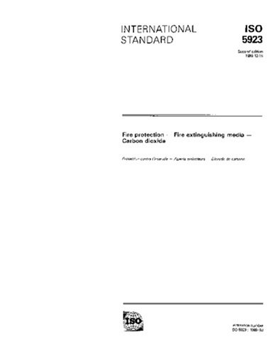 ISO 5923:1989, Fire protection - Fire extinguishing media - Carbon dioxide