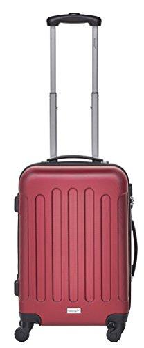 Packenger Kofferset - Travelstar - 3-teilig (M, L & XL), Rot, 4 Rollen, Koffer mit Zahlenschloss, Hartschalenkoffer (ABS) robuster Trolley Reisekoffer - 6
