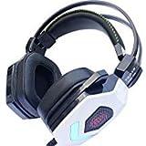 7.1Gaming Headset Multichannel Sound Effekt Gaming Über-Ohr Stereo-USB Kopfhörer mit Mikrofon Geräuschunterdrückung für PC MAC (white-88pro)