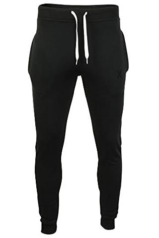 Xact Clothing - Pantalon de jogging pour homme - fabriqué en Angleterre (Noir) S