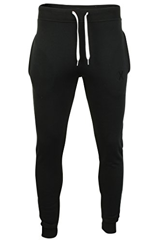 Xact Clothing - Pantalon de Jogging pour Homme - fabriqué en Angleterre (Noir) M