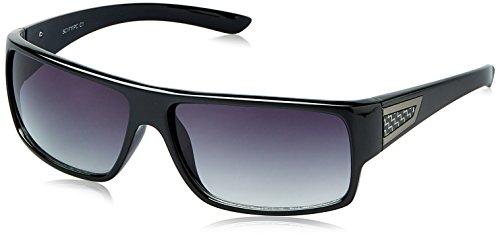 Scott Gradient Rectangular Unisex Sunglasses (SC-1711PC-C1|59|Grey lens)