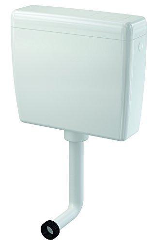 Universal Kunststoff Spülkasten, weiss mit 2-Mengen-Spültechnik 3/6 Liter inkl. Spülrohr und Montagezubehör