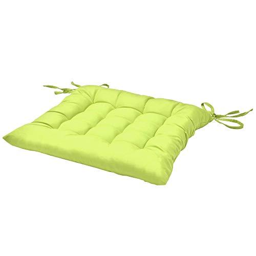 Beautissu Stuhlkissen Lea 40x40x5 cm Sitzkissen für Stühle im Indoor & Outdoor-Bereich mit Dicker...