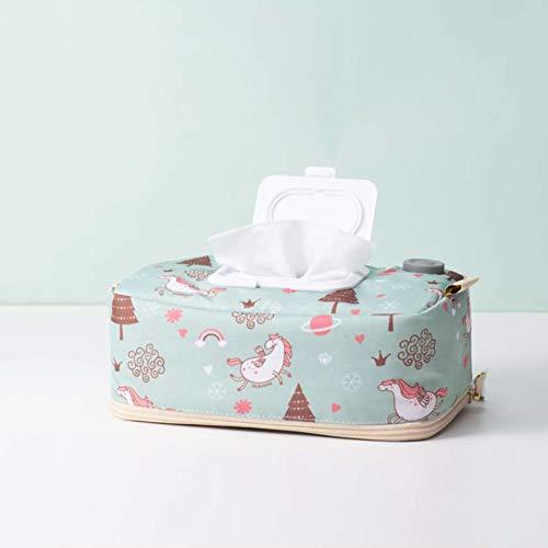 LTSWEET Neu USB Tücherwärmer für Baby Pflegetücher Boxen Feuchttuchspender Top Heizung Geringer Energieverbrauch Tragbare für Haushalt oder Reisen,Grün