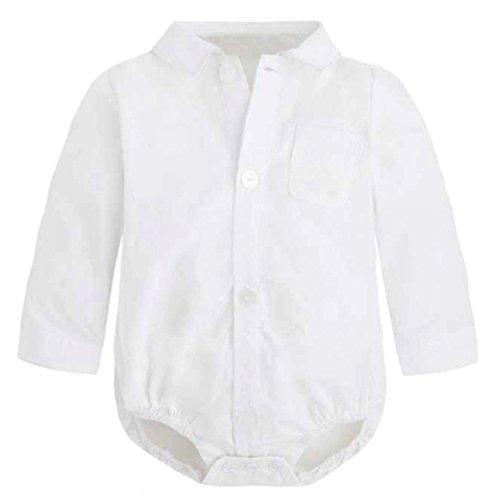 Baby Hemd - Body für Jungen weiß Modell 5294 Gr. 74