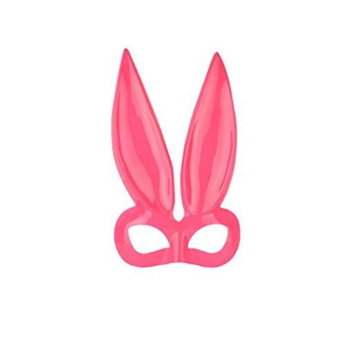 Happyyami halbes Gesicht Kaninchen Maske hase Ohr Augenmaske für Halloween Party kostüm Cosplay - Kaninchen Themen Kostüm
