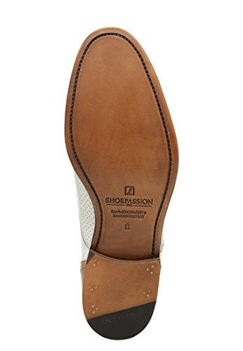 SHOEPASSION.com , Chaussures de ville à lacets pour homme Blanc Blanc Blanc - Blanc