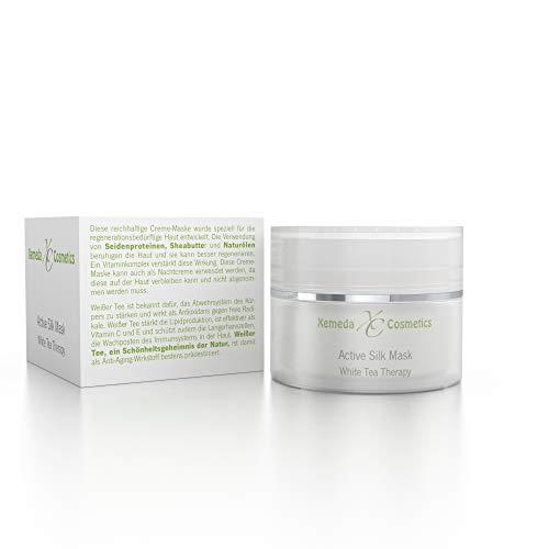Regenerierende Gesichtsmaske & Nachtpflege mit Naturölen, weißem Tee & hochwertigen Seidenproteinen - 36,00 €