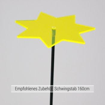Sonnenfänger - Sun Dancer STERN 150 gelb - wetterfest, lichtreflektierend - Acrylscheibe: Ø15cm - inkl. Kegelzapfen und Nylonschnur zum Hängen von Colours in Motion - Du und dein Garten