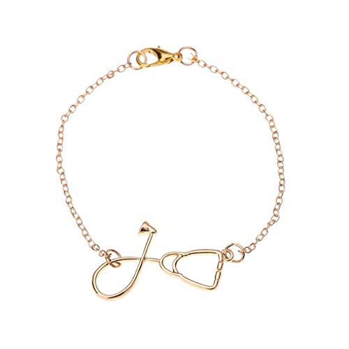 Hotaluyt Übersichtliches Design Stethoskop-Armband-Armband-Legierungs-Armband-Frauen-Mädchen-Handgelenk-Schmuck Accessoires
