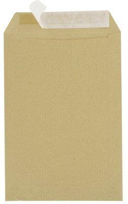 Majuscule-enveloppes Kraft 90g 16x23 Bandes Detachables Ab - Paquet De 50