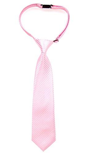 Retreez Jungen Gewebte vorgebundene Krawatte Textur Gestreifte - rosa - 24 Monate – 4 Jahre (Gewebte Textur)