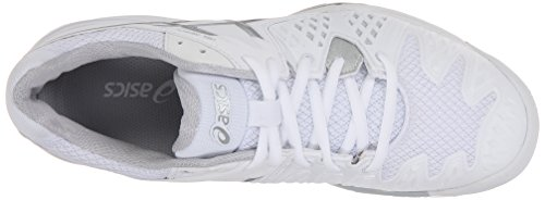 Asics Gel Resolution 6 Wide Womens Tennis Shoe White/Silver - Wide Version White/Silver
