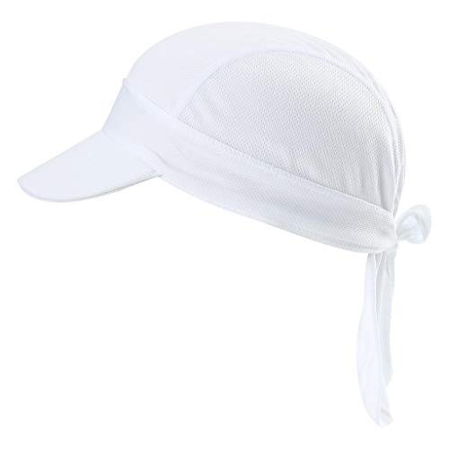 opftuch Mit Schirm Atmungsaktiv Pirat Kappe UV Schutz Verstellbar Bikertuch Radsport Mützen Schnelltrockned Weiß ()