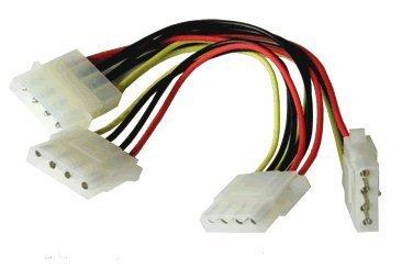 3Wege Adapter 4-pin Molex Splitter PC-Kabel Blei (15cm) (Schweiß Meter)