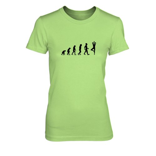 Planet Nerd - Evo Yoga - Damen T-Shirt Kiwi