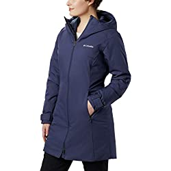 Columbia Autumn Rise Mid Jacket Chaqueta Impermeable, Mujer, Azul (Nocturnal), XL
