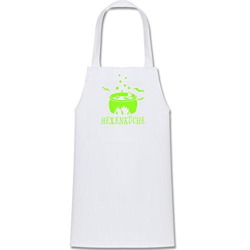 Shirtracer Kleine Köche & Bäcker - Hexenküche - 60 cm x 50 cm (H x B) - Weiß - X978 - Kinder Kochschürze (Weiße Magierin Kostüm Kind)