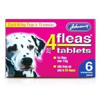 Johnsons 4Fleas Large Dog Tablets 6 Pack
