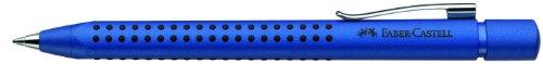 Faber-Castell Grip 2011 – Bolígrafo de punta redonda (0,7 mm), color azul metálico