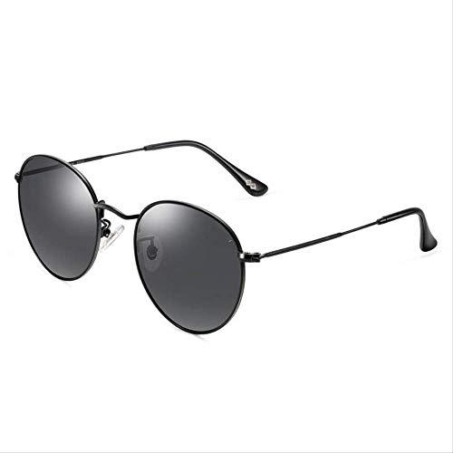 ZCFDDP Sonnenbrille Hohe Qualität Männer Polarisierte Sonnenbrille Für Fahren Anti-Uv Anti-Glare Tac Linsen Klassische Metallrahmen SonnenbrilleSchwarz Rahmen Schwarz Le