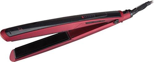 Jata PP75B Plancha de pelo con placa cerámica flotante, 25 W, Acero Inoxidable, plástico, Rojo y negro