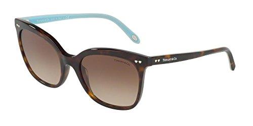 Tiffany 0ty4140 80153b 54, occhiali da sole donna, marrone (dark havana/browngradient)