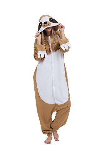 Casa Pyjama Tieroutfit Schlafanzug Tier Onesies Sleepsuit mit Kapuze Erwachsene Unisex Overall Halloween Kostüm Jumpsuit