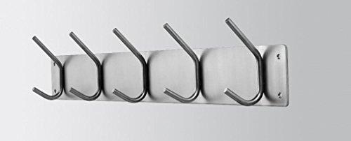 Spinder Design Fusion Coat Rack mit 5 Haken - 11.5x70x6 cm - Edelstahl