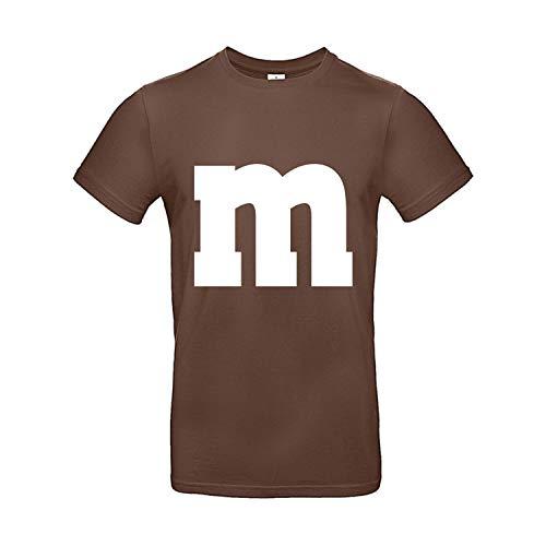 Shirt-Panda Herren T-Shirt M&M Karneval Gruppen Kostüm Fasching Verkleidung Party Darts Unisex Kinder Braun L