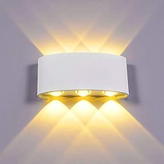 Lightess Applique Murale Intérieur LED 6W Eclairage Extérieur Étanche IP65 En Aluminium Lumière Up Down Spot Pour Chambre Salon Escalier Jardin Terrasse Patio Blanc Chaud [Classe énergétique A +]