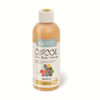 Preisvergleich Produktbild Squires Kitchen Professional Cocol Metallic Cocoa Butter Colouring Gold 75g Pot