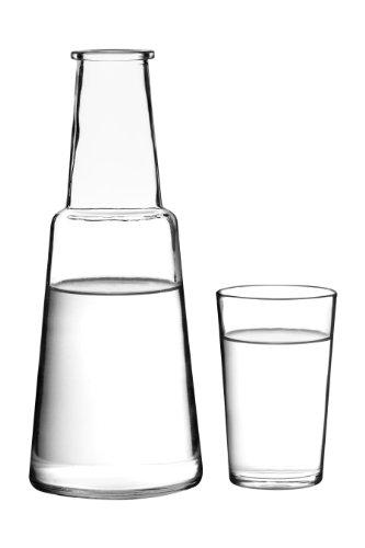Premier Housewares -Juego de jarra y vaso de cristal
