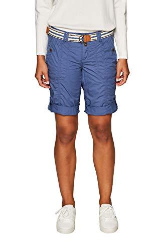 edc by ESPRIT Damen 039CC1C001 Shorts, Blau (Grey Blue 420), W38(Herstellergröße: 38)
