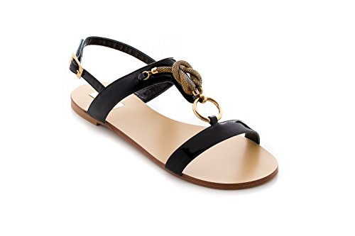 Antonio Raggini Sandal Patent with Brass Fitting