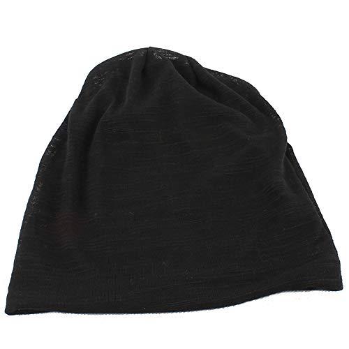 geiqianjiumai Mode Baumwolle Gaze Kappen für männer und Frauen Farbverlauf doppel strickmütze Winddicht Hut Outdoor Freizeit Kappe schwarz M (56-58 - Doppel Kostüm Für Paare