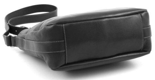 Bric's Life Pelle Sacoche bandoulière cuir 28 cm Noir
