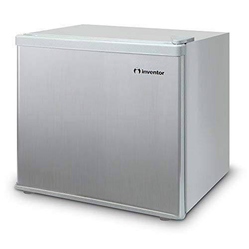 inventor mini nevera silenciosa a++ de 43 litros con compresor, color plata, ideal para hoteles, estudiantes, oficinas, pequeños hogares