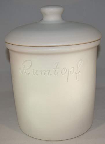 Töpferei Seifert Rumtopf 5 Liter Grade Weiss matt