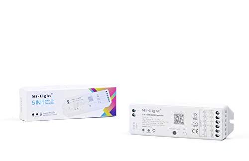 KingLed - Mi-Light Ricevitore WiFi 15A Controller per Strip Monocolore CCT  RGB RGBW e RGB+CCT Controllabile da Smartphone iOS e Android Compatibile